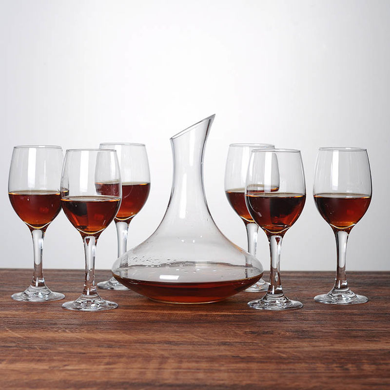 1000ml/34oz Round 7pcs Custom Wine Decanter With Polyfoam Packing